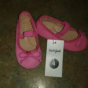 NWT Cat and Jack Pink Ballet Flats